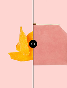 DRIED MANGO + SPACIOUS SUEDE CLUTCH