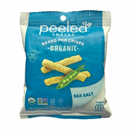 single serve pea crisp bag front