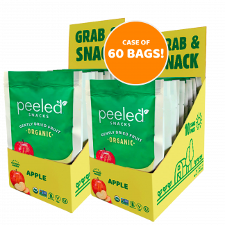 case of 60 single serve apple bags