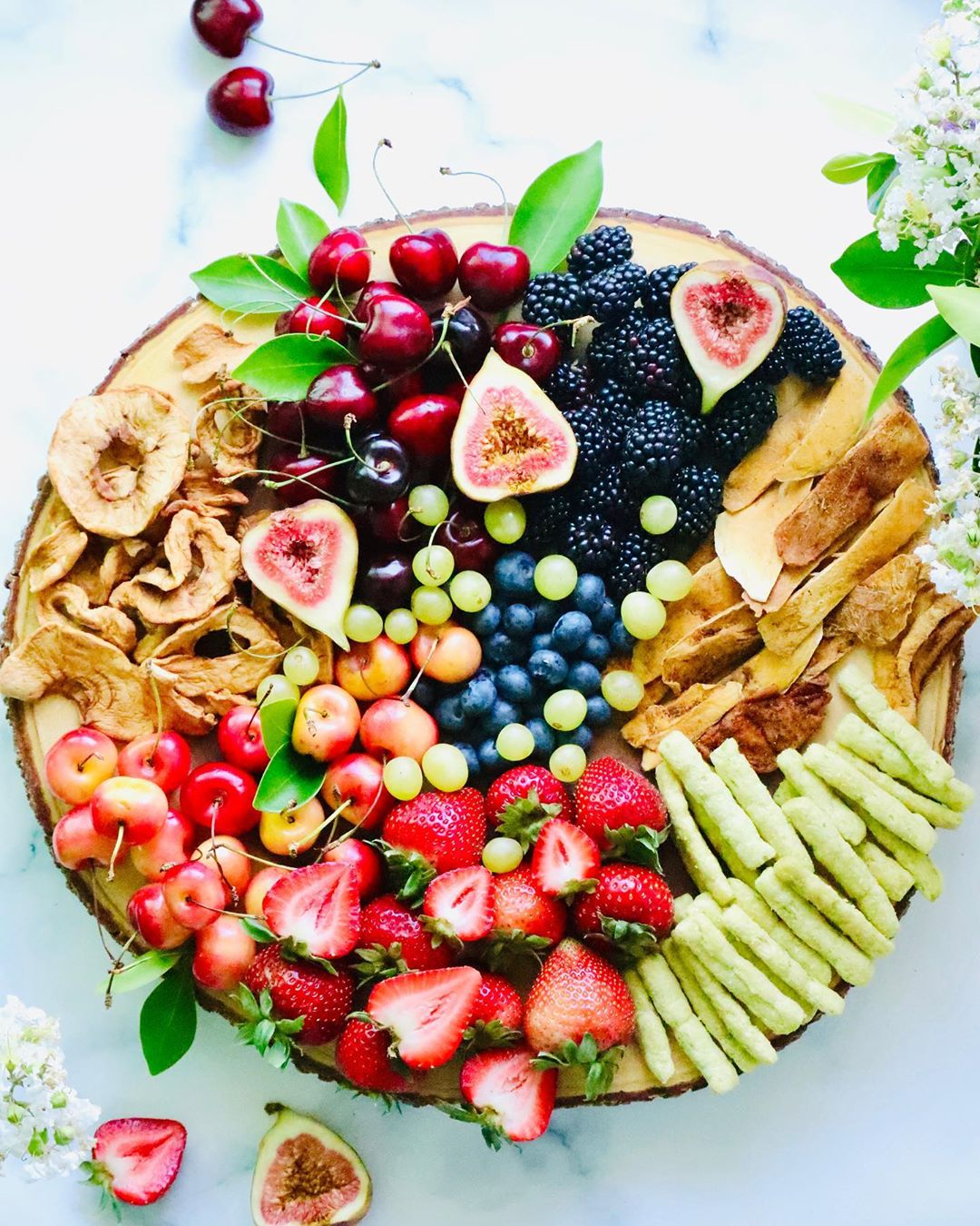 plate with fresh fruits and our snacks