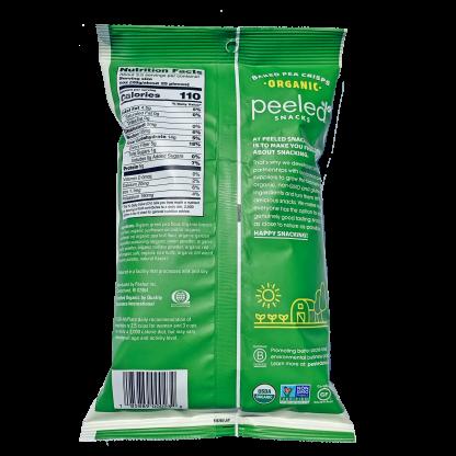 back of garden herb pea crisp bag