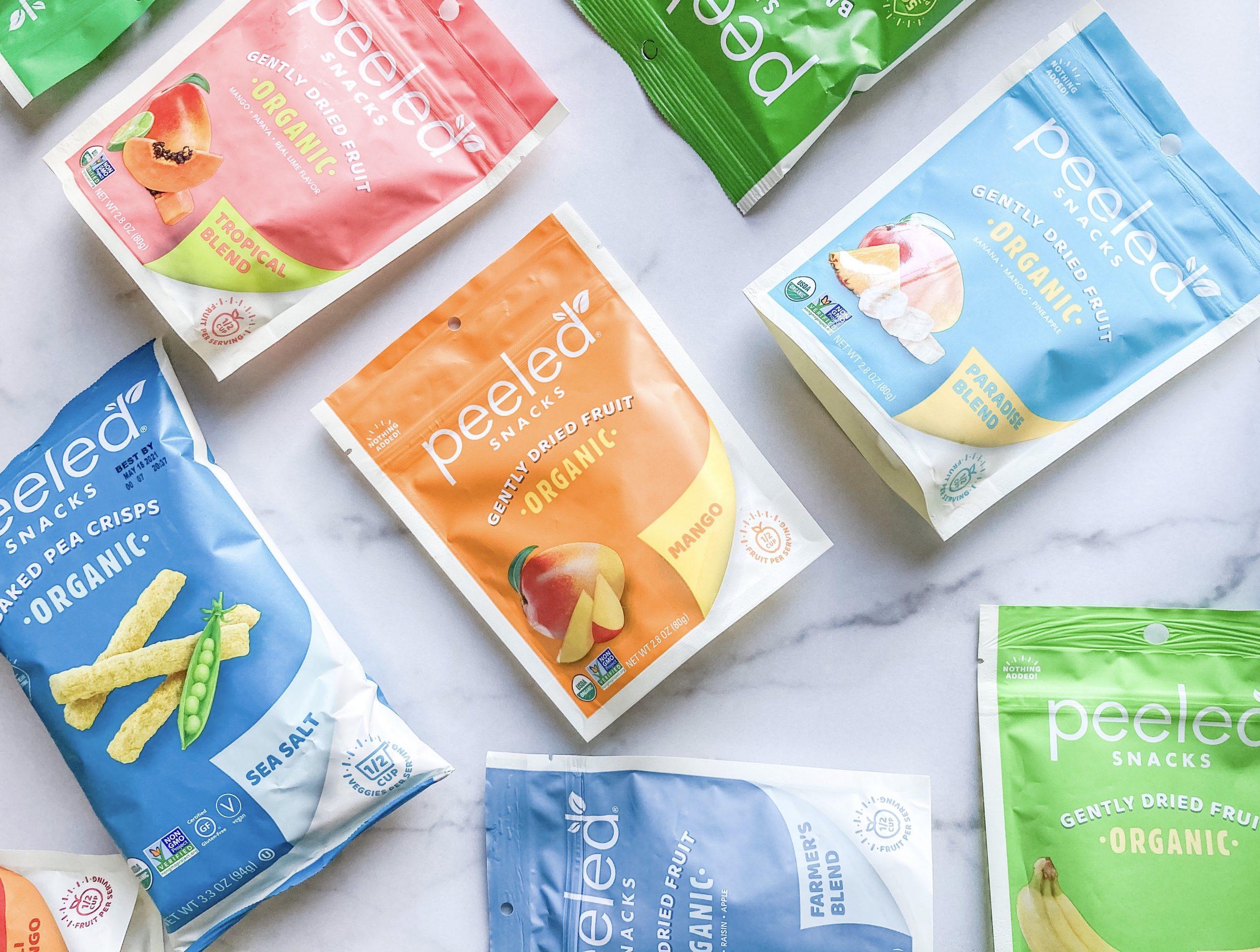bags of peeled snacks