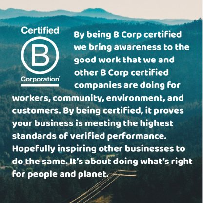 statement about what it means to be a certified B Corporation